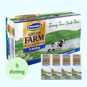 Thùng 48 hộp sữa tươi tiệt trùng ít đường Vinamilk Green Farm 180ml