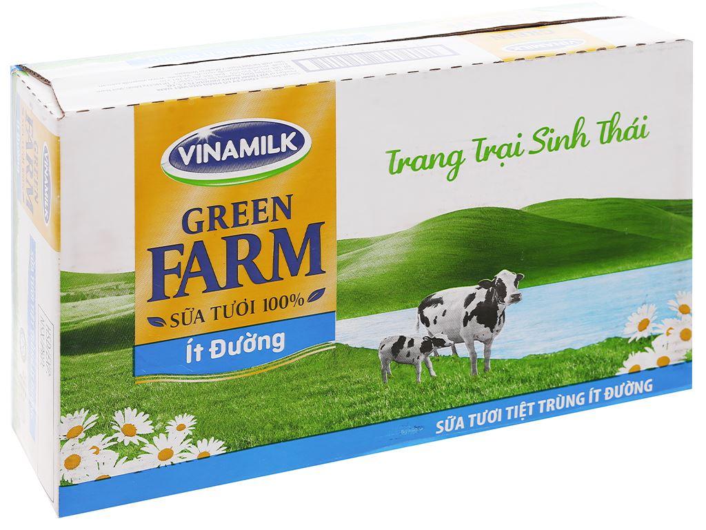 Thùng 48 hộp sữa tươi tiệt trùng ít đường Vinamilk Green Farm 110ml 1