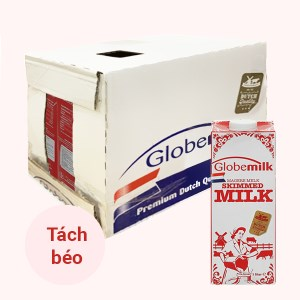 Thùng 6 hộp sữa tươi tiệt trùng tách béo Globemilk 1 lít