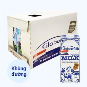 Thùng 6 hộp sữa tươi nguyên chất tiệt trùng Globemilk 1 lít