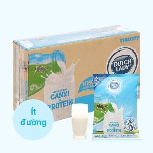 Thùng 24 bịch sữa tươi tiệt trùng ít đường Dutch Lady Canxi & Protein 180ml
