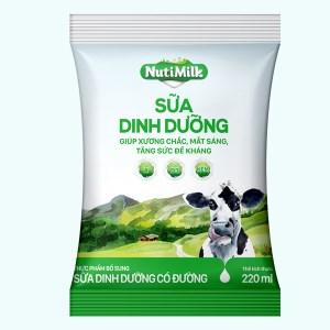 Sữa dinh dưỡng có đường Nutimilk bịch 220ml