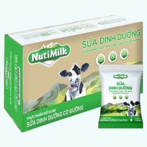 Thùng 48 bịch sữa dinh dưỡng có đường Nutimilk 220ml