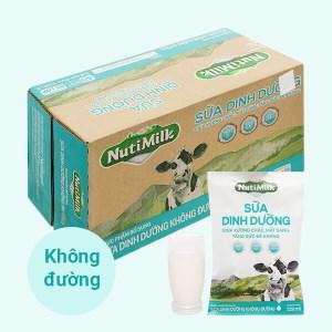 Thùng 48 bịch sữa dinh dưỡng không đường Nutimilk 220ml