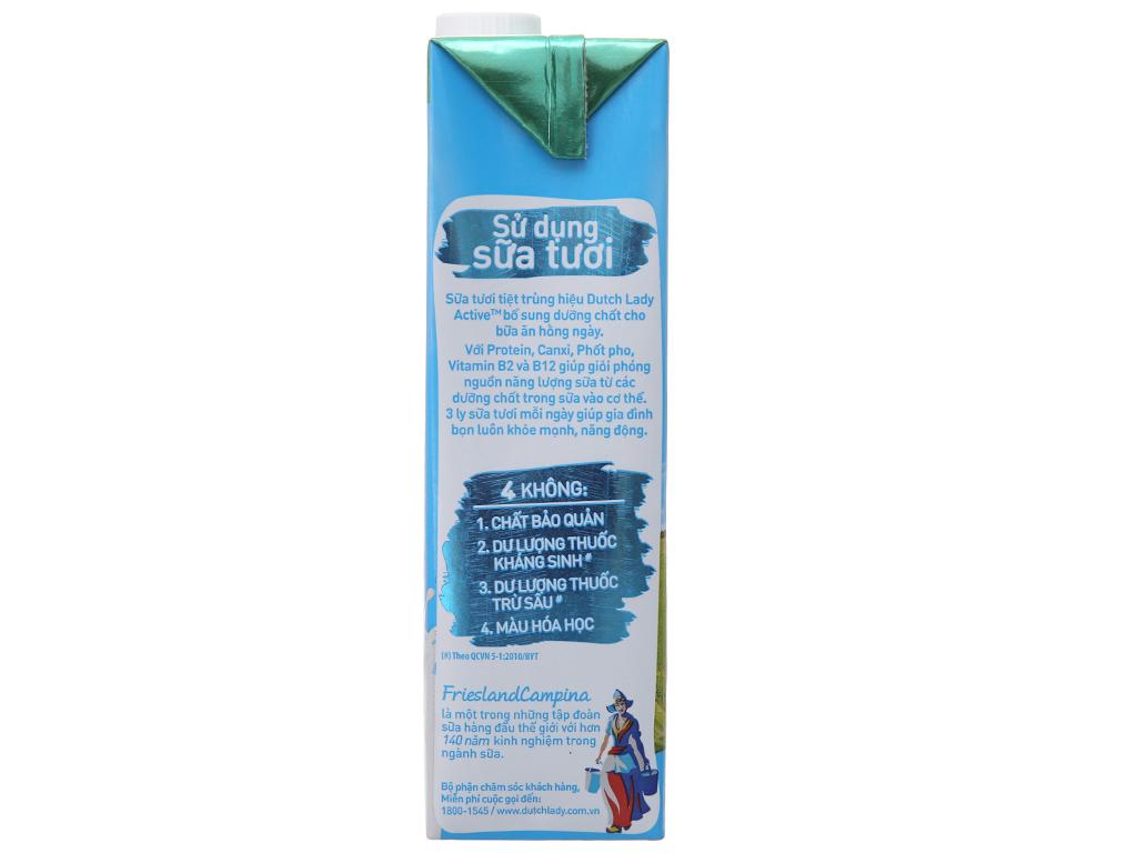 Sữa tươi tiệt trùng Dutch Lady Active có đường hộp 1 lít 4