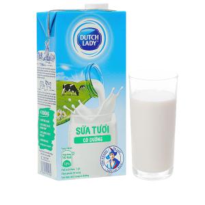 Sữa tươi tiệt trùng có đường Dutch Lady hộp 1 lít
