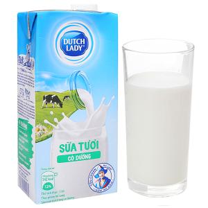 Sữa tươi tiệt trùng Dutch Lady Active có đường hộp 1 lít