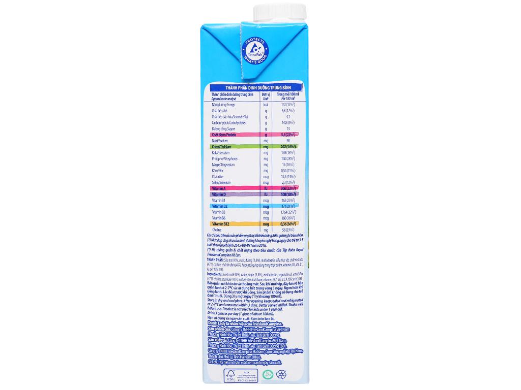 Sữa tươi tiệt trùng có đường Dutch Lady Active hộp 1 lít 4