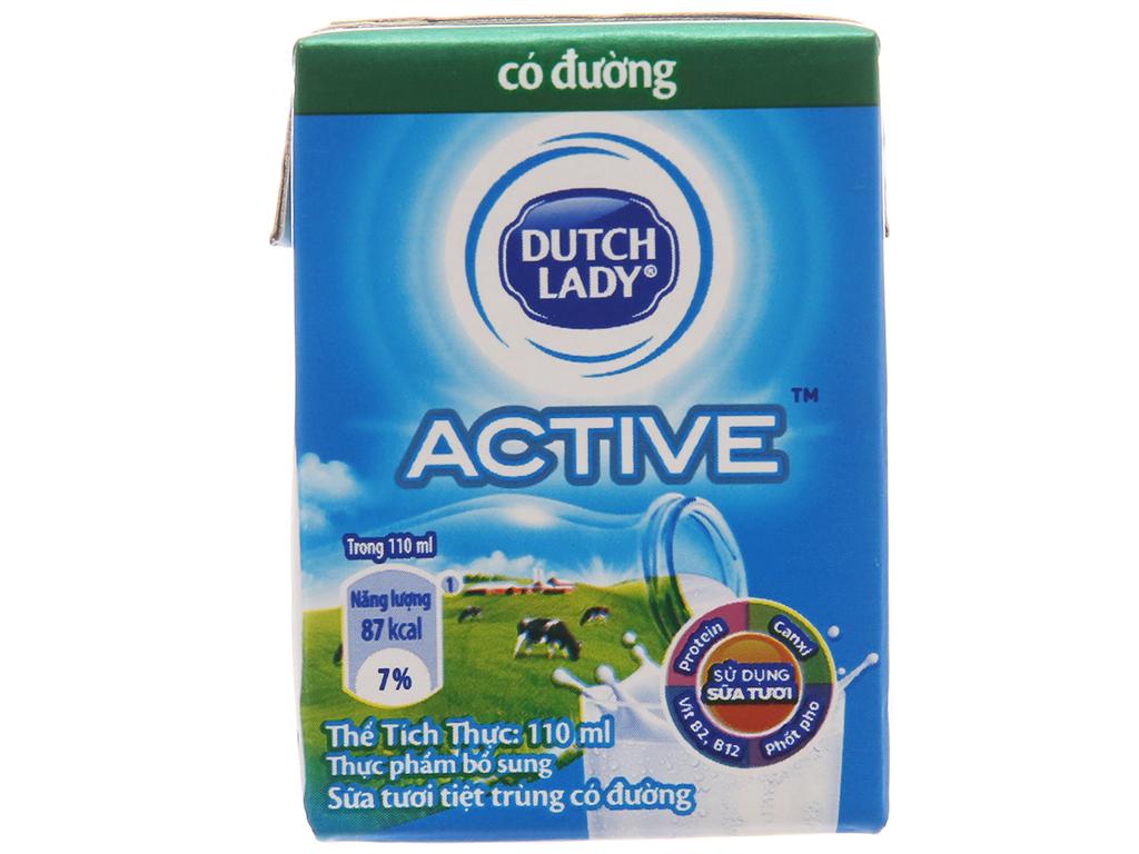 Sữa tiệt trùng Dutch Lady có đường hộp 110ml 3