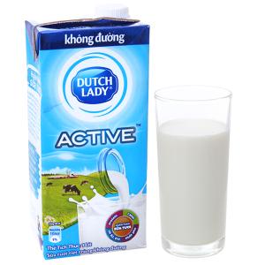 Sữa tươi tiệt trùng Dutch Lady không đường hộp 1 lít