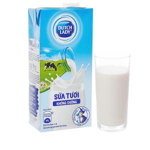Sữa tươi tiệt trùng không đường Dutch Lady hộp 1 lít