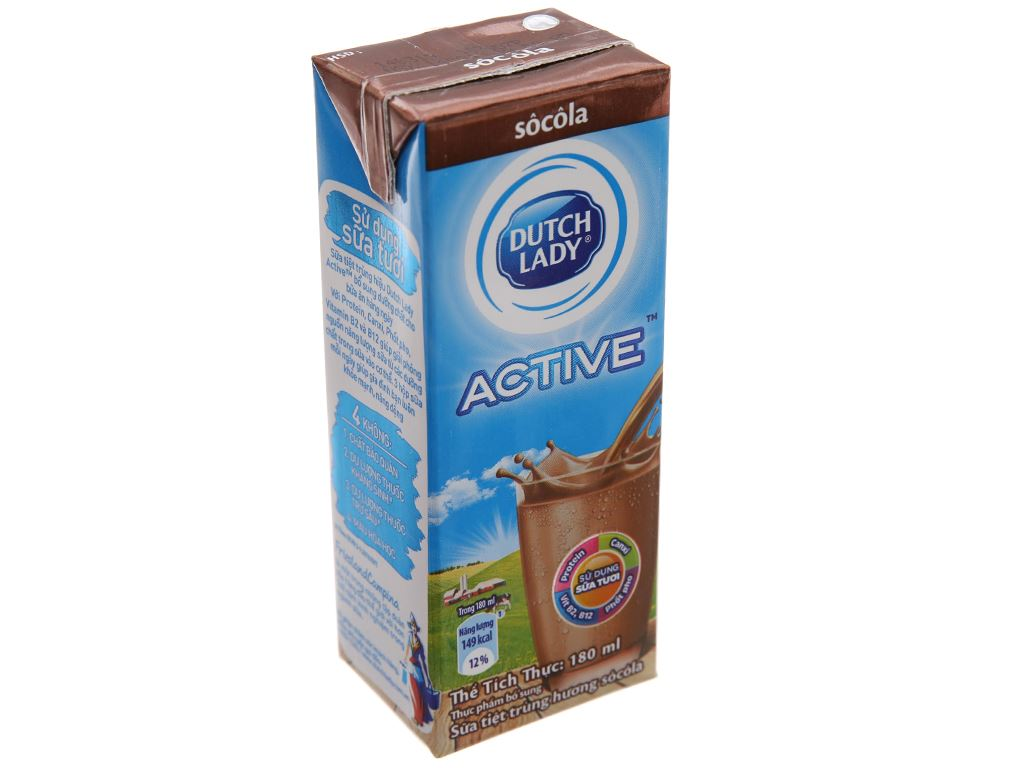 Sữa tiệt trùng Dutch Lady socola hộp 180ml 2