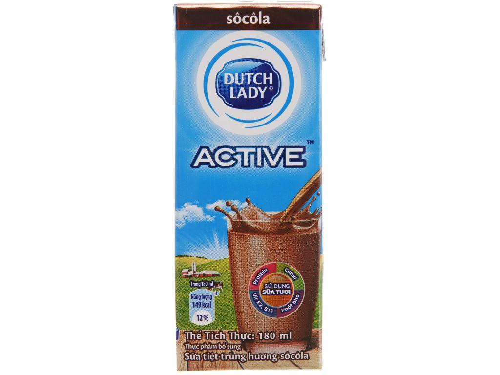 Sữa tiệt trùng Dutch Lady socola hộp 180ml 3