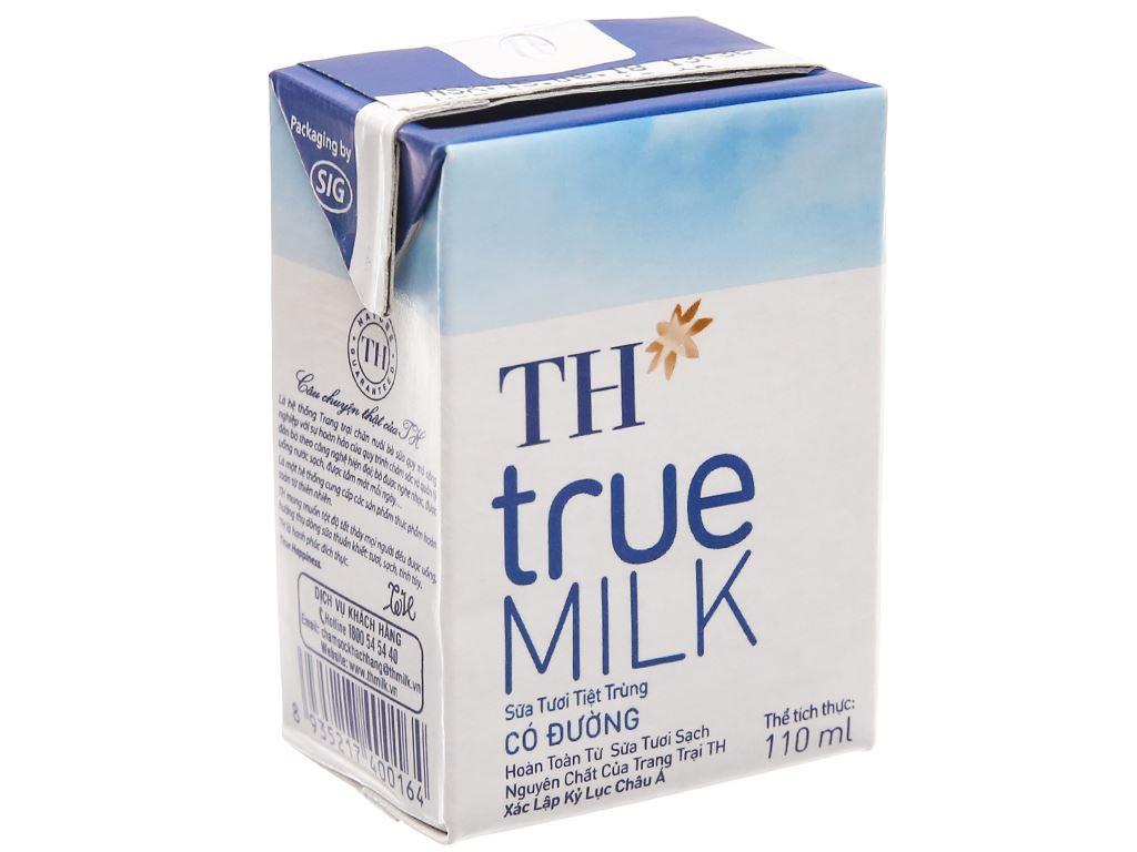 Sữa tươi tiệt trùng TH true MILK hộp 110ml 2
