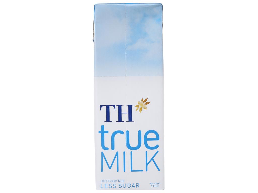 Sữa tươi tiệt trùng ít đường TH true MILK hộp 1 lít 3