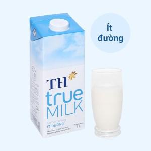 Sữa tươi tiệt trùng ít đường TH true MILK hộp 1 lít