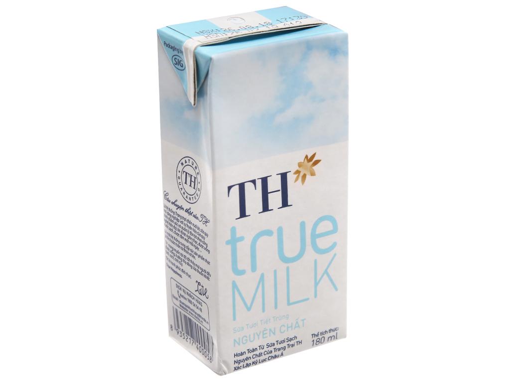 Sữa tươi tiệt trùng TH true MILK nguyên chất hộp 180ml 2