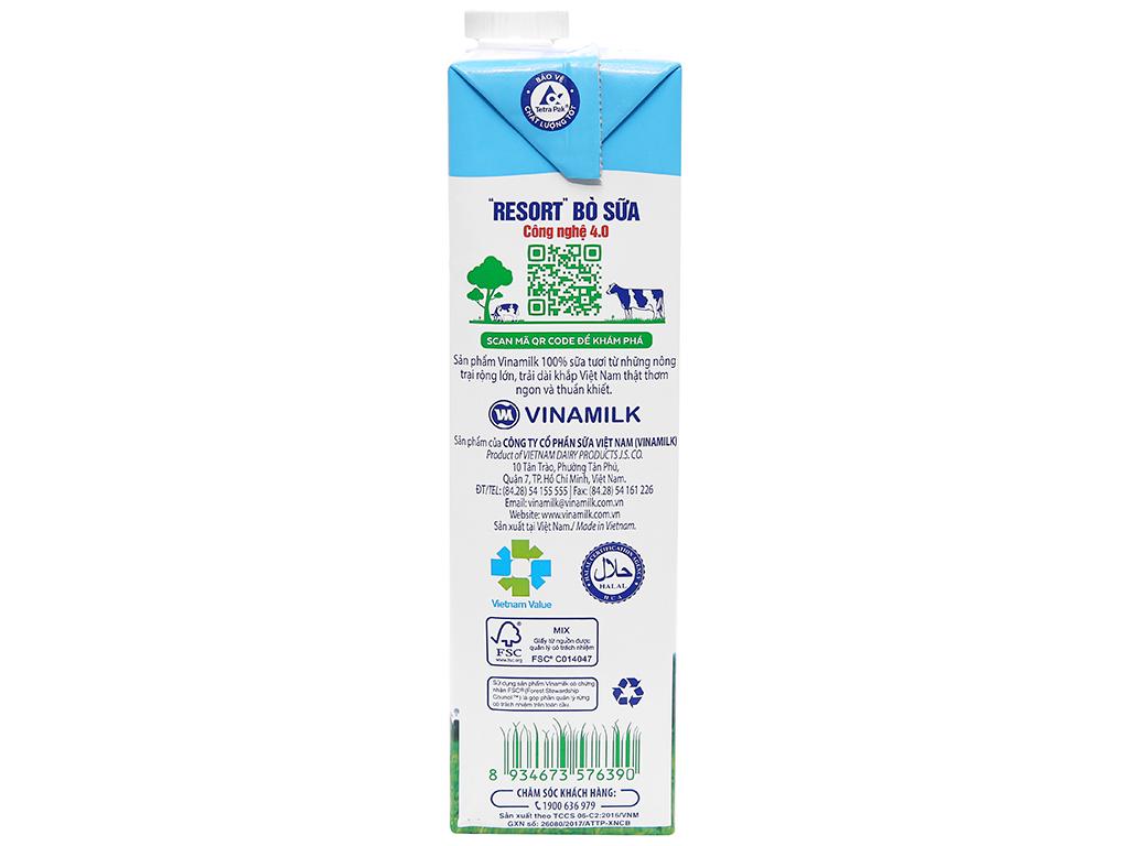 Sữa tươi không đường Vinamilk 100% Sữa Tươi hộp 1 lít 3