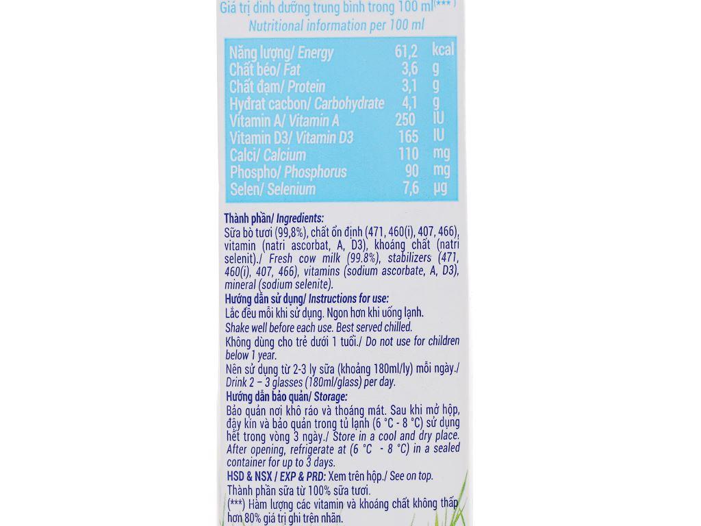 Sữa tươi không đường Vinamilk 100% Sữa Tươi hộp 1 lít 13