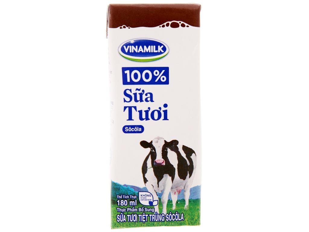 Sữa tươi tiệt trùng Vinamilk sô cô la hộp 180ml 3