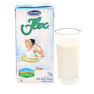 Sữa dinh dưỡng không đường Vinamilk Flex hộp 1 lít
