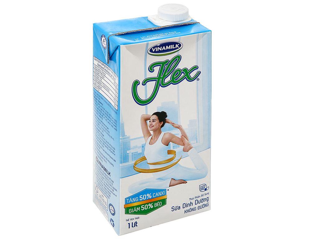Sữa dinh dưỡng không đường Vinamilk Flex hộp 1 lít 1