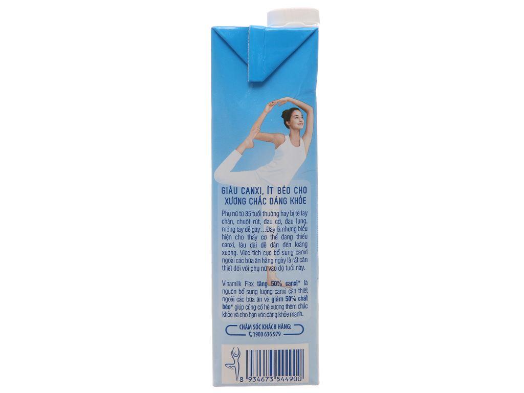 Sữa Vinamilk Flex tăng 50% canxi không đường hộp 1 lít 4