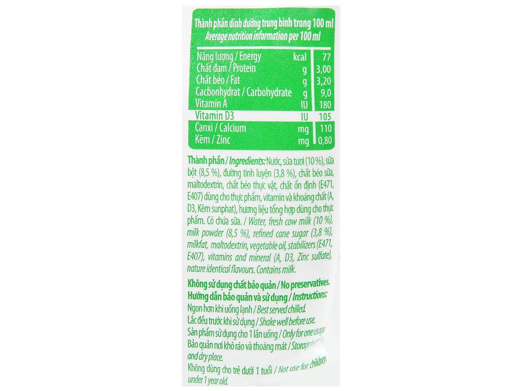 Sữa tiệt trùng có đường Nuti bịch 220ml 3