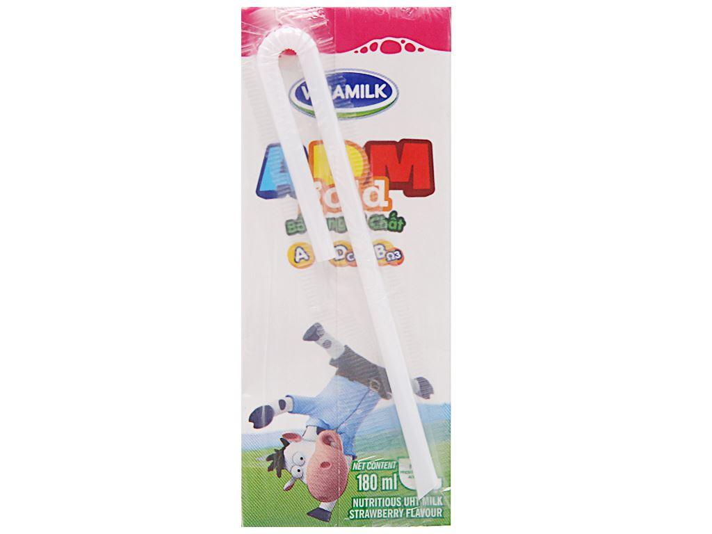 Sữa tiệt trùng Vinamilk ADM Gold hương dâu hộp 180ml 4