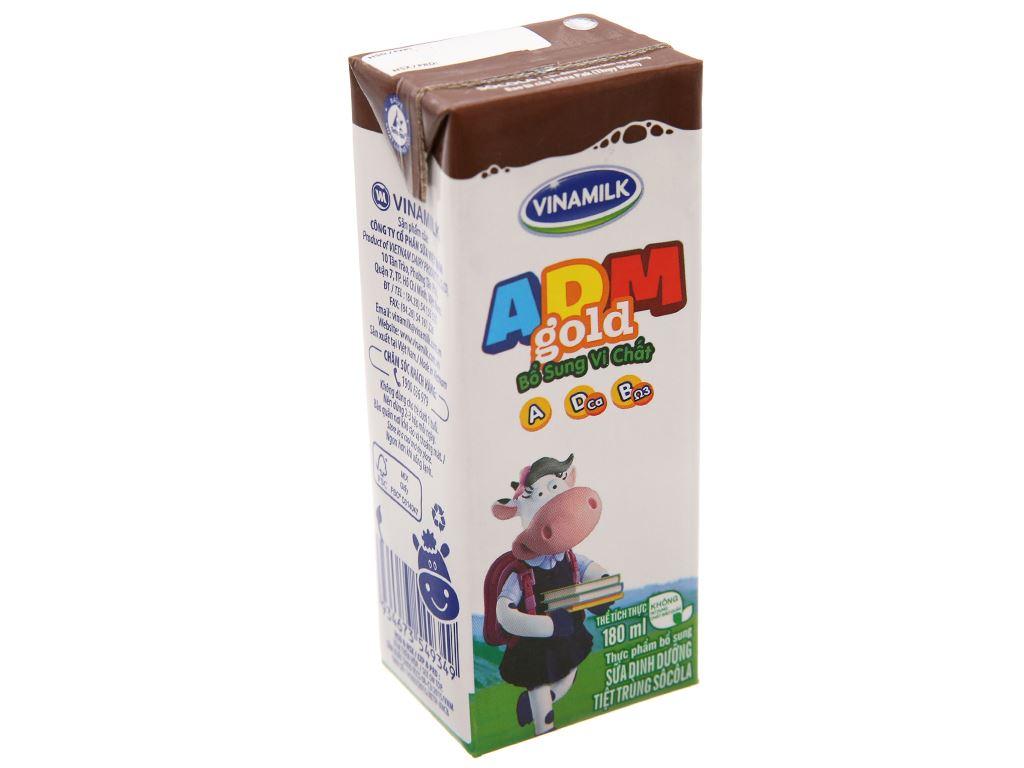 Sữa dinh dưỡng hương socola Vinamilk ADM Gold hộp 180ml 2