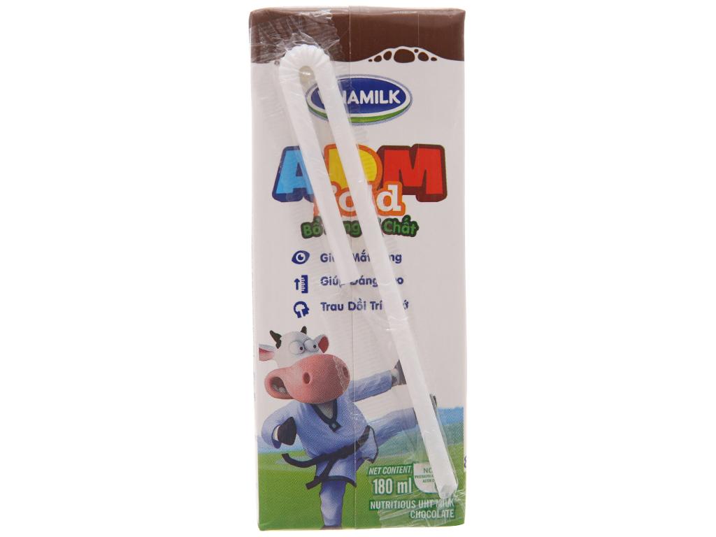 Sữa dinh dưỡng hương socola Vinamilk ADM Gold hộp 180ml 4