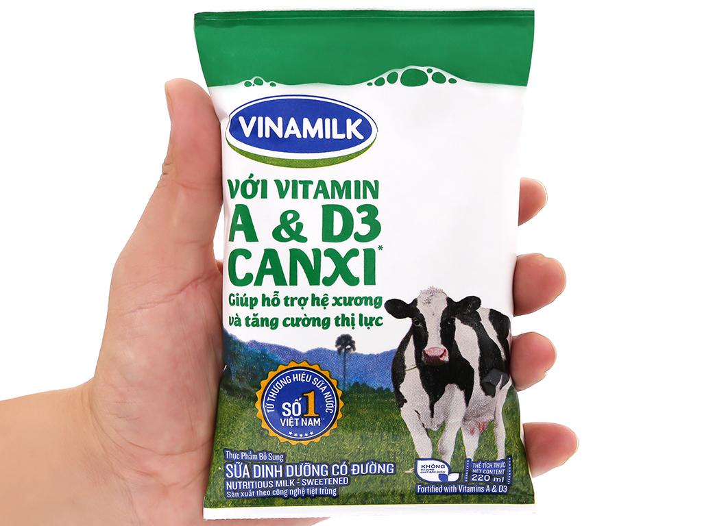 Sữa dinh dưỡng có đường Vinamilk A&D3 bịch 220ml 5
