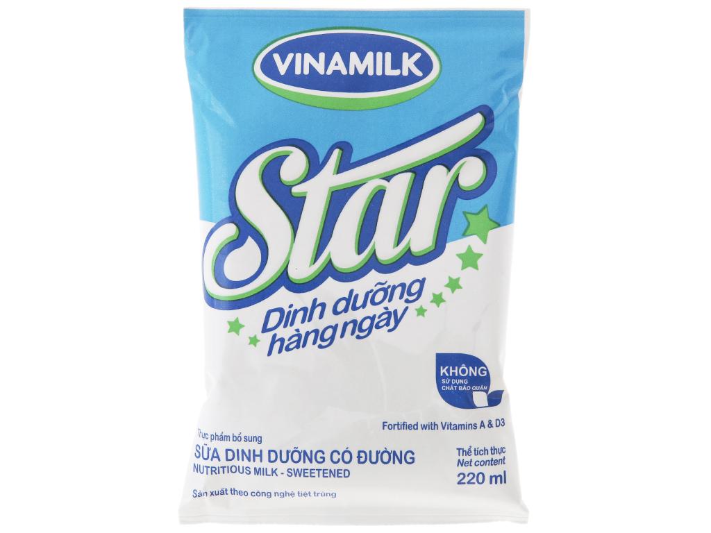 Sữa dinh dưỡng Vinamilk Star có đường bịch 220ml 2