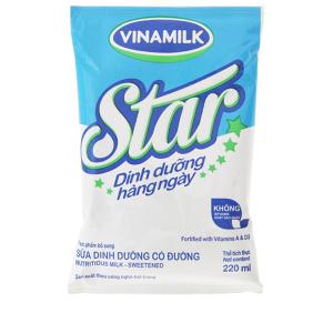 Sữa dinh dưỡng Vinamilk Star có đường bịch 220ml