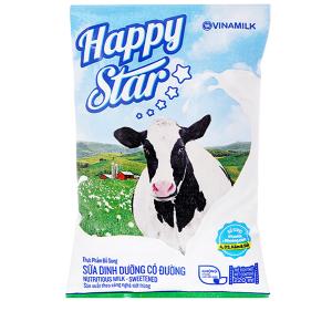 Sữa dinh dưỡng có đường Vinamilk Happy Star bịch 220ml