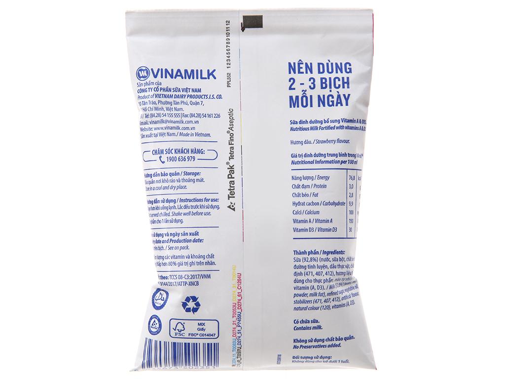Sữa dinh dưỡng Vinamilk A&D3 hương dâu bịch 220ml 4