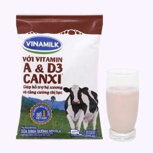 Sữa dinh dưỡng socola Vinamilk A&D3 bịch 220ml