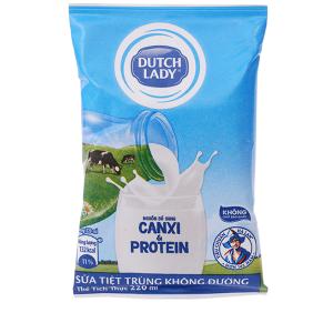 Sữa tiệt trùng Dutch Lady Canxi & Protein không đường 220ml