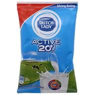 Sữa tiệt trùng Dutch Lady Không đường bịch 220ml