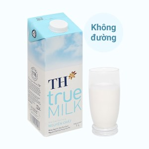 Sữa tươi tiệt trùng nguyên chất không đường TH true MILK hộp 1 lít