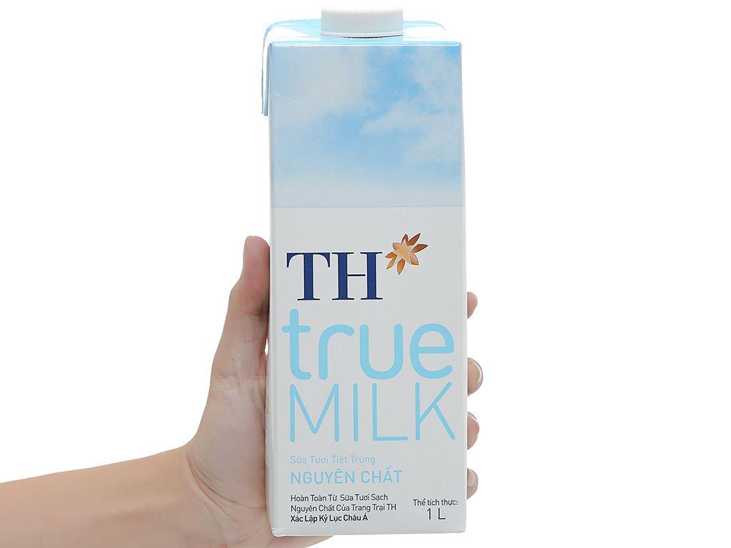 Sữa tươi tiệt trùng nguyên chất không đường TH true MILK hộp 1 lít 6