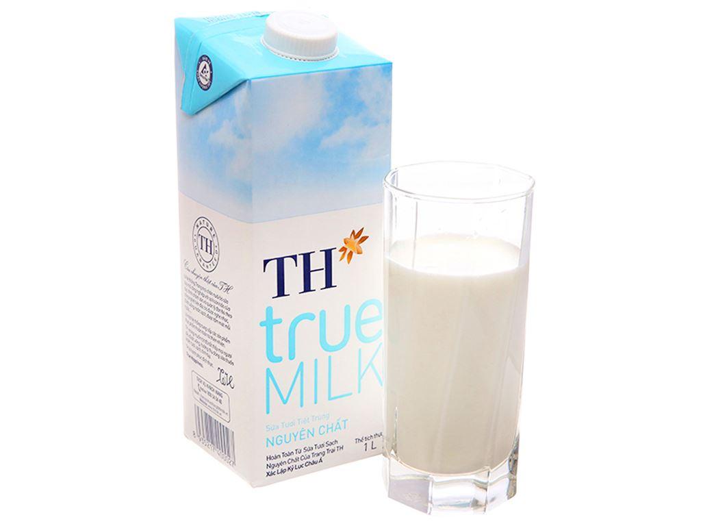 Sữa tươi tiệt trùng TH true MILK nguyên chất hộp 1 lít 1