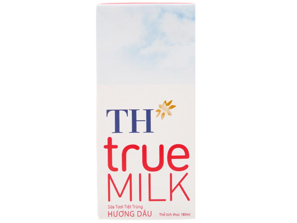 Sữa tươi tiệt trùng hương dâu TH true MILK hộp 180ml 3