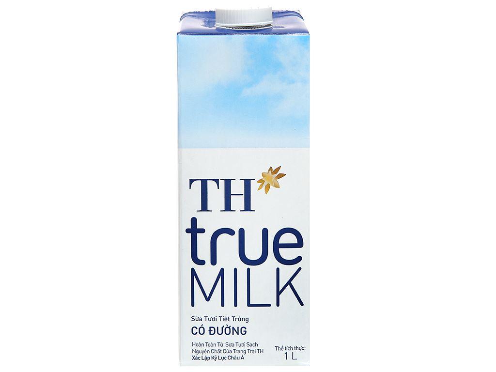Sữa tươi tiệt trùng có đường TH true MILK hộp 1 lít 2