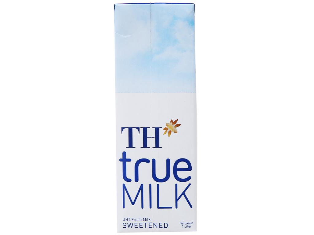Sữa tươi tiệt trùng TH true MILK có đường hộp 1 lít 2