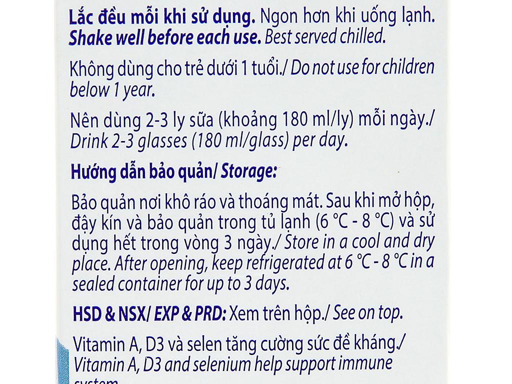 Sữa tươi có đường Vinamilk 100% Sữa Tươi hộp 1 lít 6
