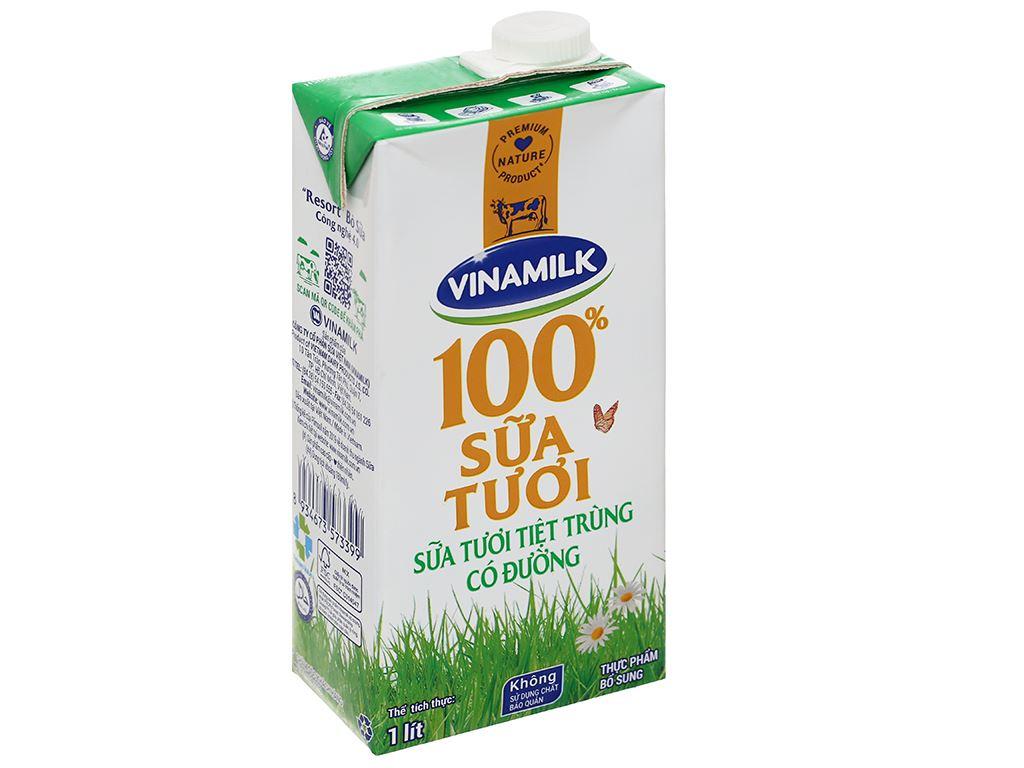 Sữa tươi có đường Vinamilk 100% Sữa Tươi hộp 1 lít 1