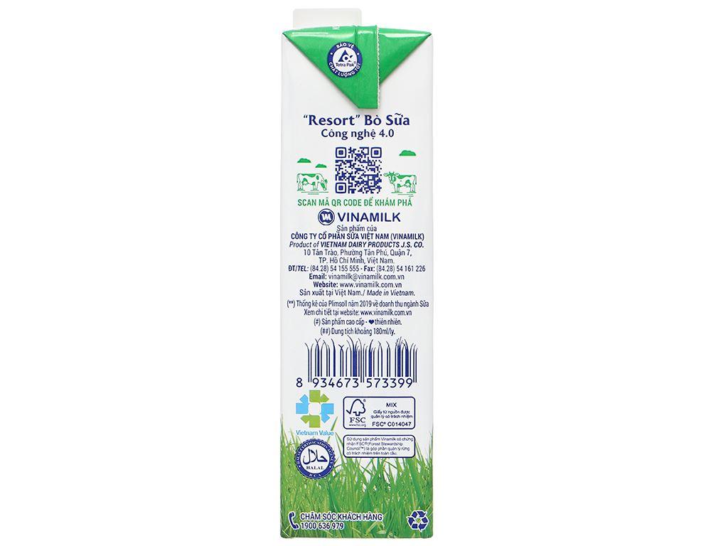 Sữa tươi có đường Vinamilk 100% Sữa Tươi hộp 1 lít 4