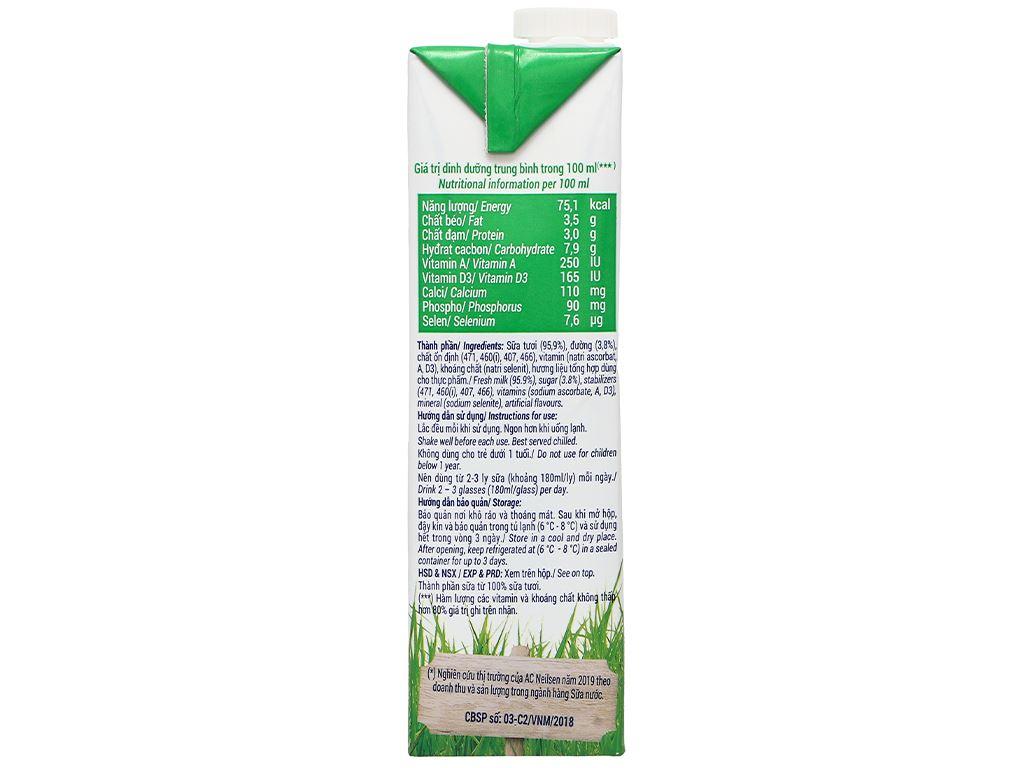 Sữa tươi có đường Vinamilk 100% Sữa Tươi hộp 1 lít 5