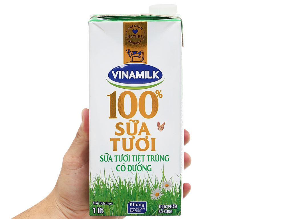 Sữa tươi có đường Vinamilk 100% Sữa Tươi hộp 1 lít 7